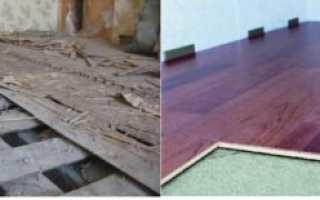 Как подготовить деревянный пол под ламинат своими руками