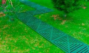 Пластиковая плитка и модульные покрытия для укладки садовых дорожек