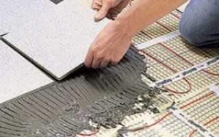 Теплый пол под керамогранит: подробная инструкция монтажа