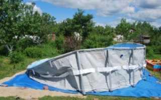 Как произвести установку каркасного бассейна на даче своими руками