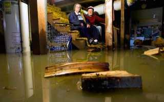 Затопило подвал в частном доме: куда обращаться и что делать