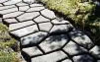 Бетонные садовые дорожки в загородном доме: как залить из формы, сделать под камень – 18 фото