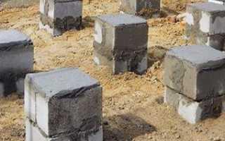 Столбчатый фундамент из блоков своими руками 20*20*40: пошаговая инструкция