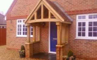 Как сделать деревянный навес над крыльцом частного дома и дачи своими руками