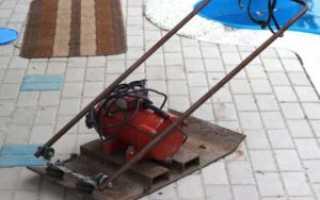 Виброплита с электродвигателем своими руками для уплотнения грунта самодельная
