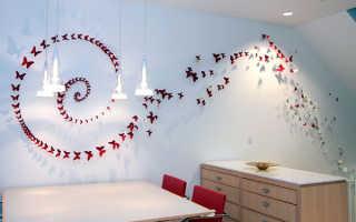 Декорирование стен своими руками подручными средствами: обоями, ламинатом, тканью, шпаклевкой и краской