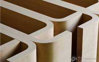 Как согнуть листы фанеры в дугу или цилиндр в домашних условиях