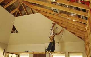 Обшивка стен гипсокартоном в каркасном доме своими руками