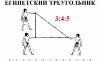Что такое Египетский треугольник на стройке