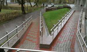 Основные требования к пандусу для инвалидов и его ограждению для общественных зданий