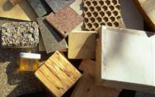 Виды дешевых материалов для строительства дома своими руками