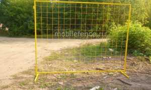 Временный забор для стройки: наружное ограждение