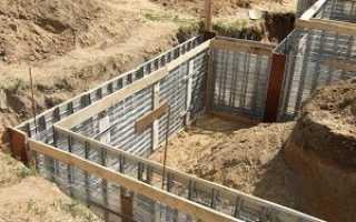 Ленточный фундамент с подвалом своими руками: технология строительства