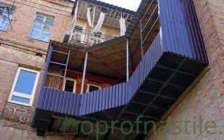 Отделка балкона профнастилом своими руками: снаружи и внутри