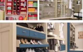 Настенные системы для хранения вещей в гардеробной или кладовке своими руками