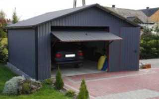 Как собрать откидные гаражные ворота своими руками