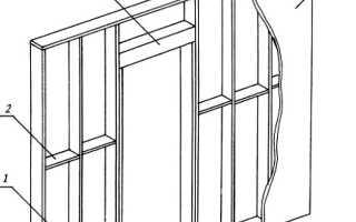 Установка двери в гипсокартонную перегородку своими руками