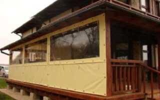 Окна для веранды и террасы мягкие, раздвижные
