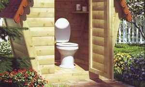 Унитаз для уличного туалета: дачный пластиковый своими руками