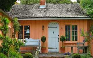 Как построить каркасно- щитовой садовый домик эконом класса своими руками недорого