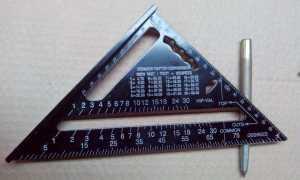 Угольник Свенсона: инструкция на русском метрического треугольника