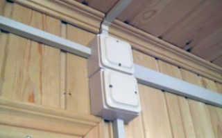 Прокладка электрического кабеля в коробе или кабель-канале
