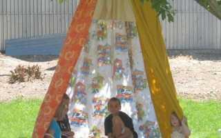 Как построить шалаш своими руками в домашних условиях для детей на улице из веток и дерева