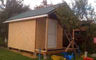 Строительство каркасного сарая с односкатной и двускатной крышей своими руками