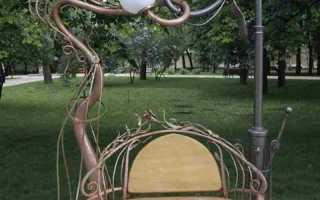 Как сделать кованые лавочки и скамейки уличные для дачи своими руками