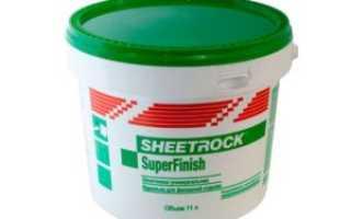 Виды шпатлевки Sheetrock и технические характеристики материала