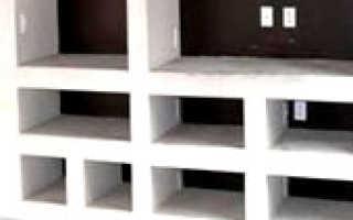 Как сделать книжный шкаф из гипсокартона своими руками: фото