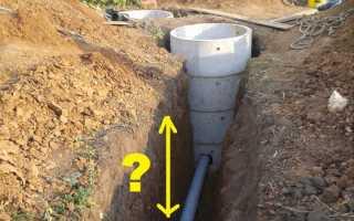 Какая Глубина заложения канализации в частном доме: пошаговая инструкция