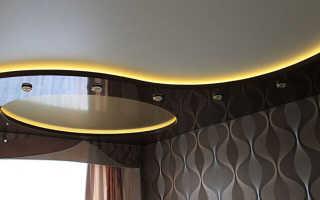 Как сделать натяжные потолки двухуровневые для зала: виды и инструкция