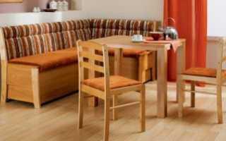 Диван на кухню своими руками: пошаговая инструкция советует начать с фото, определиться с дизайном (простой или угловой) и сделать удобную мебель в столовой