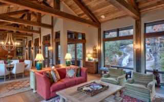 Потолок (необработанный, отделочный) в деревянном доме