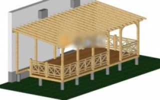 Открытая терраса к дому из дерева своими руками: варианты обустройства