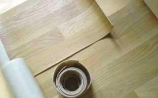 Укладка линолеума на деревянный пол с подложкой своими руками
