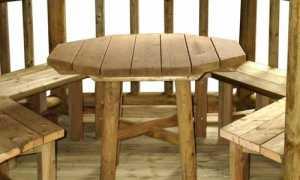 Лавочки и столы в беседку: принцип изготовления, необходимые материалы