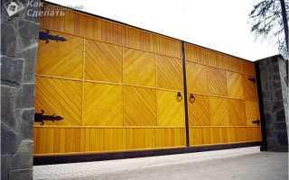 Как сделать деревянные распашные ворота своими руками