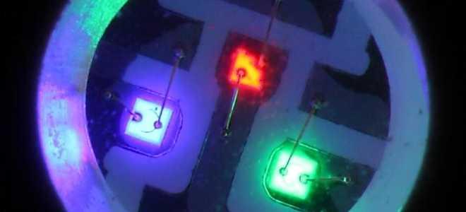 Светодиодная подсветка — параметры диодов: монохромные и многоцветные