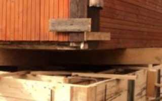 Ремонт и трещины фундамента старого деревянного дачного или частного дома своими руками