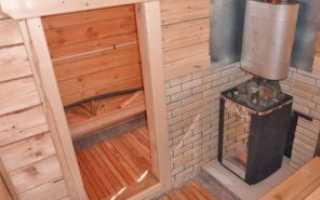 Установка металлической печи в бане своими руками