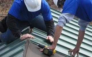 Монтаж профнастила на крыше саморезами дома правильно