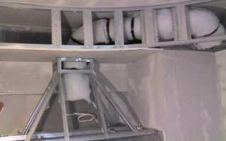 Как замаскировать вентиляционную трубу на кухне